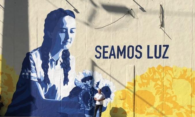 Develan mural que promueve eliminar violencia contra mujeres